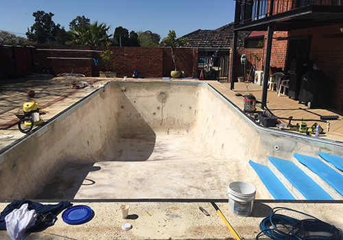 dianella concrete to vinyl pool conversion - before
