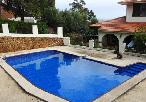 lesmurdie concrete to vinyl pool conversion - after