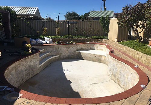 port kennedy vinyl pool renovation - before