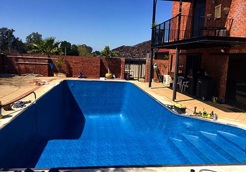 concrete vinyl pool conversion